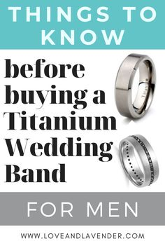 Things to know before buying a Titanium wedding band for men Wedding Men, Wedding Blog, Wedding Bands, Honeymoon Planning, Wedding Planning, Bridal Ring Sets, Classic Gold, Things To Know, Unique Rings