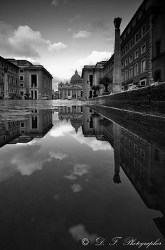 Photograph St. Peter's reflection by Daniele Forestiere on 500px