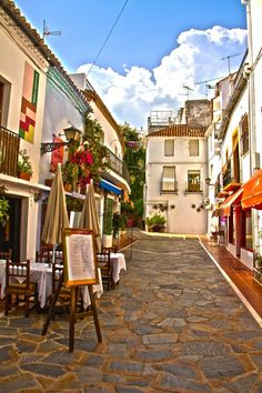 Street in Marbella, Spain. Our 25 tips for things to do in Spain: http://www.europealacarte.co.uk/blog/2012/02/09/what-to-do-in-spain/