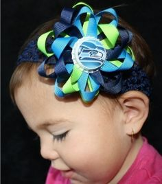 Seahawk Hair Bows...would be bears of course!