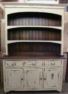 Farmhouse Hutch | Farmhouse Open Hutch Buffet Cabinet Distressed Mahogany | eBay