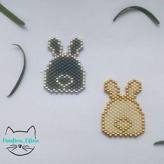 WEBSTA @ pauline_eline - Des petits derrières de lapins!!!! Et l'observateur attentif remarquera leurs queues en forme de coeur  les lapins c'est quand même le top de la mignonnerie,  non?  #jenfiledesperlesetjassume #miyukibeads #miyuki #perleaddictannonyme #perle #lapin #bunny #rabbit #coeur #heart #motifpauline_eline #brickstitch