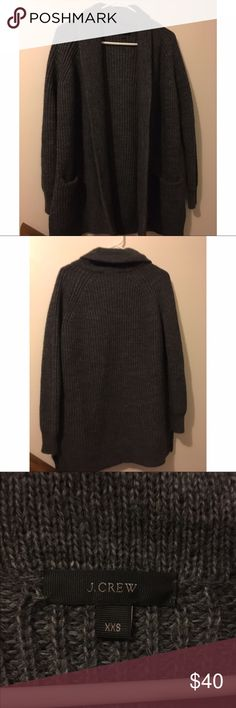 J. Crew Thick Knit Gray Cardigan This cardigan by J.Crew is an XX small and is in great condition! Super comfy J. Crew Sweaters Cardigans