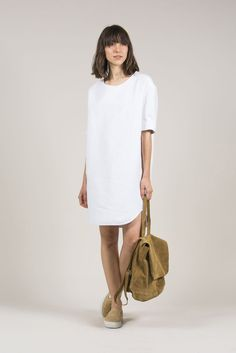 Spicy Dress, White by Humanoid #kickpleat #Humanoid