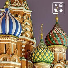 A capital russa, Moscou, representa séculos de história marcados por revoluções, impérios e pelo poder soviético do Kremlin. A multicolorida Basílica de São Basílio, localizada na Praça Vermelha, chama atenção por sua beleza exuberante, que mais parece um castelo de conto de fadas. #AmoViajar #ClubePeloMundo #ClubeTurismo