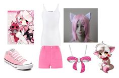 Fnaf Mangle by yandere-chan1 on Polyvore featuring Vince, River Island, Converse, Amanda Rose Collection and Freddy