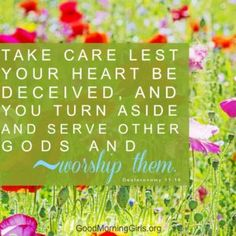 Take care lest your heart be deceived, and you turn aside and serve other gods and worship them. Deuteronomy 11:16