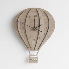 Vintage Skies Wooden Clock - hardtofind.