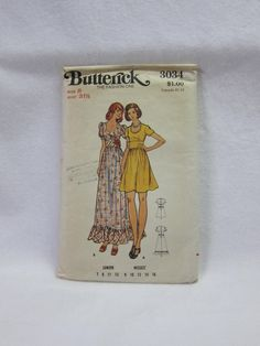 3 Vintage 1970s Pattern. Dress, Butterick 3034 Size 8.  Jumpsuit, Butterick 3334 Size 10. OR Dress Butterick 3926 Size 10. Choose One by FashionSew on Etsy