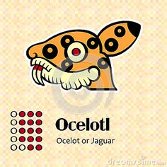 Símbolos aztecas del calendario - Ocelotl o jaguar (14)