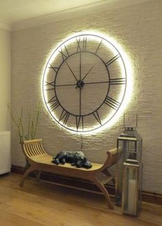 wall clock decor living room 392024342564913222 - Source by ceciliagaillard Room Decor, Diy Home Decor Easy, Clock Decor, Decor, Living Room Decor, Clock Wall Decor, Wall Clocks Living Room, Kitchen Wall Decor, Tuscan Wall Decor