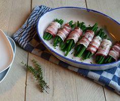 Haricots Verts in spek gerold: ✓ MAKKELIJK RECEPT ✓ slechts 3 (!) ingrediënten ✓ bijgerecht ✓ kerst ✓ met spek, pancetta of ontbijtspek
