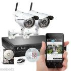 Funlux® 720P HD Wireless Outdoor WiFi Network Security Camera 4CH NVR System 1TB