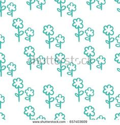 Seamless pattern of flowers on white background. Figure for textiles.
