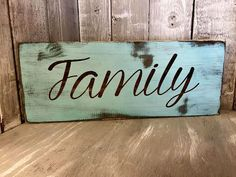 "FAMILY Sign * Hand painted Rustic Sign * Cottage * Vintage * Wall Decor "" Shabby Chic * by Burlap Bowtique"