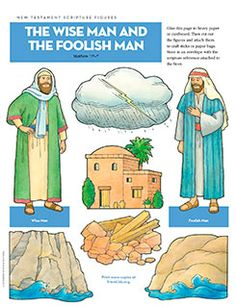 Scripture Figures, Wise Man and Foolish Man