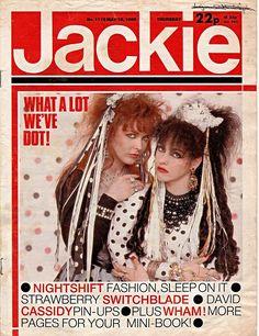Jackie Magazine 18 May 1985 Issue 1115 Strawberry Switchblade Wham David Cassidy 1970s Childhood, Childhood Days, 80s Pop Music, Blues Music, Girls Magazine, Magazine Wall, Crazy Friends, Music Magazines, David Cassidy
