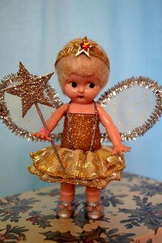 1940 S Vintage 7 Mbc Ny Composition Christmas Tree Fairy Angel Doll