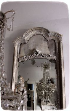 Chic Shabby and French Meas Vintage, Vintage Shabby Chic, Shabby Chic Homes, Trumeau Mirror, Mirror Mirror, French Cottage, French Country, Sword Of The Spirit, Old Mirrors