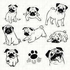 Image Result For Pug Drawing Easy Cute Dog Drawing Cute Monsters Drawings Pugs Funny