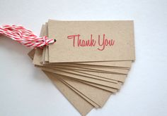 Thank you Gift Tags -