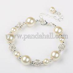 como hacer pulseras con perlas y cristales - Buscar con Google