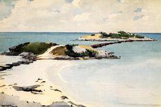 """Gallow's Island, Bermuda"" c.1900  Winslow Homer. Watercolor on paper 52.1 x 34.3 cm. Museo Thyssen-Bornemisza, Madrid."