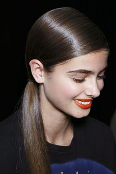 sleek shiny ponytail