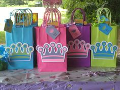 Birthday Favors For A Princess Themed Party Goodie Bags