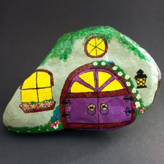 Gnome Home Art Hand Painted Rock