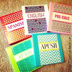 Cute ways to organize your school binders!!