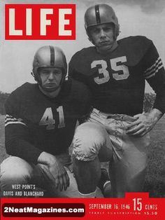 size: Premium Photographic Print: West Point Football Players Glenn Davis and Felix Blanchard, September 1946 by Alfred Eisenstaedt : Subjects Life Magazine, History Magazine, Army Football, Football Players, Football Stuff, College Football, Vintage Magazines, Vintage Ads, Vintage Travel