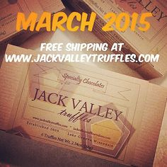 Gift Chocolate Truffles! They'll love you for it! Easter ideas. www.jackvalleytruffles.com