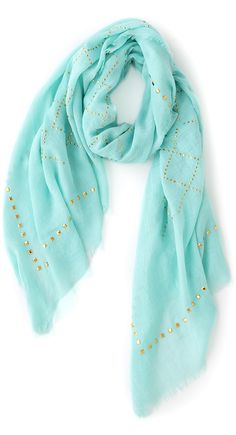 Mint + Gold Scarf