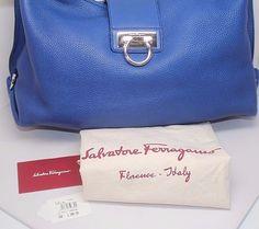 SALVATORE FERRAGAMO Fanisa Pebbled LEATHER  Hobo/Shoulder handbag/purse NWT #SalvatoreFerragamo #Hobo