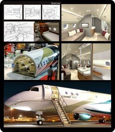Lineage 1000 - Project by Embraer Design Studio + Embraer Engineering + Priestman Goode Studio - Coordinated by designer Fernanda Loth  www.airliners.net