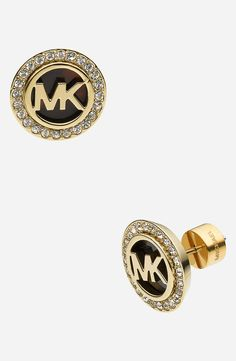 Adding these shiny Michael Kors monogram stud earrings to the collection!