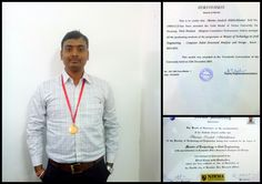 Prof.Sandesh Sharma one of our Faculty Member received Gold Medal for Securing 1st Position (Highest Cumulative performance Index) among all the Graduating Students Programme of Masters of Technology in Civil Engineering - Computer Aided Structural Analysis and Design Batch 2013-2015 from Nirma University.  We are all proud of you and send you our heartiest congratulations. #git #gitproudmoment — at Gandhinagar Institute of Technology.