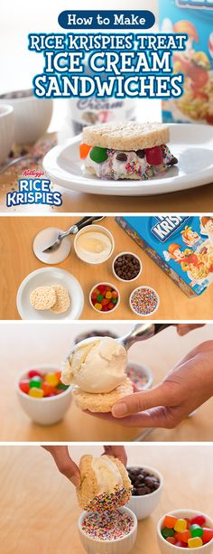 Looking for a fresh take on classic desserts? Build your very own Ice Cream Sandwich Bar — just pick out toppings you know your family will love, and set 'em down with a tray of homemade Rice Krispies Treats! Let your kids mix-and-match their own flavors…you might just end up with a new favorite!