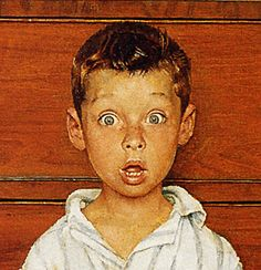 1956 The Discovery, Norman Rockwell (detail) Norman Rockwell Prints, Norman Rockwell Paintings, The Saturdays, Retro, Caricatures, American Artists, Mail Art, Belle Photo, Great Artists