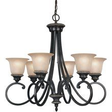View the Dolan Designs 1750-148 Traditional / Classic 6 Light Up Lighting Chandelier from the Hastings Collection at LightingDirect.com.