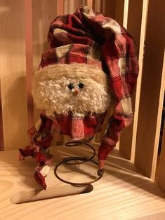 Rusty Spring Snowman Head with sock hat