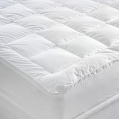 Shop online or instore for Miss Lyn Box Stitched Mattress Toppers in White 233 Thread Count, Cotton Downproof. Bed Base Wrap, Linen Bedding, Bed Linen, Make Your Bed, White Box, Cool Beds, Sofa Bed, Mattress, Fitted Sheets