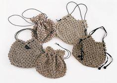 Yo yo bags!  Love this fabric!