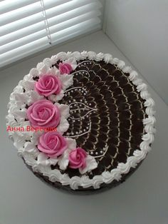 Cake Decorating For Beginners, Cake Decorating Techniques, Cake Decorating Tutorials, Pretty Cakes, Beautiful Cakes, Cake Decorating Icing, Candy Drinks, Refreshing Desserts, Doughnut Cake