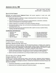Cardiac Nurse Practitioner Sample Resume Pleasing 9 Best Student Nurse Resume Images On Pinterest  Nursing Resume .