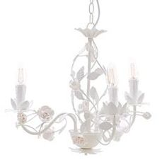 METAL CEILING LAMP W/3 LIGHTS IN WHITE COLOR 42X42X37/110