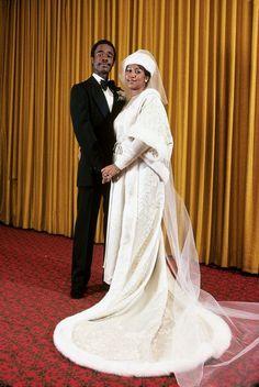 Celebrity weddings: Aretha Franklin to Glenn Turman. Celebrity Wedding Photos, Celebrity Couples, Celebrity Weddings, Black Love, Beautiful Black Women, Beautiful People, Amazing People, Tennessee, Black Royalty