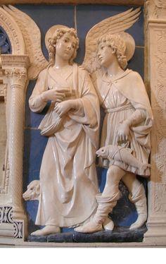VECCHIO-TESTAMENTO-08713-Tobiolo e l'angelo - della Robbia - Museo Santa Croce, Firenze (sergia, fsp)