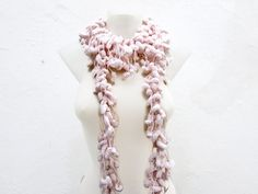 Hand crochet Long Scarf Peachy Mulberry Scarf Pompom by scarfnurlu Neck Accessories, Winter Accessories, Pompom Scarf, Long Scarf, Hand Crochet, Mother Day Gifts, Autumn Fashion, Handmade